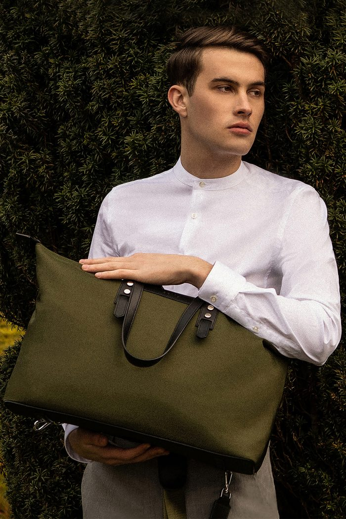 The Gallery Tote to Backpack   Military Green www.aoifelifestyle.com