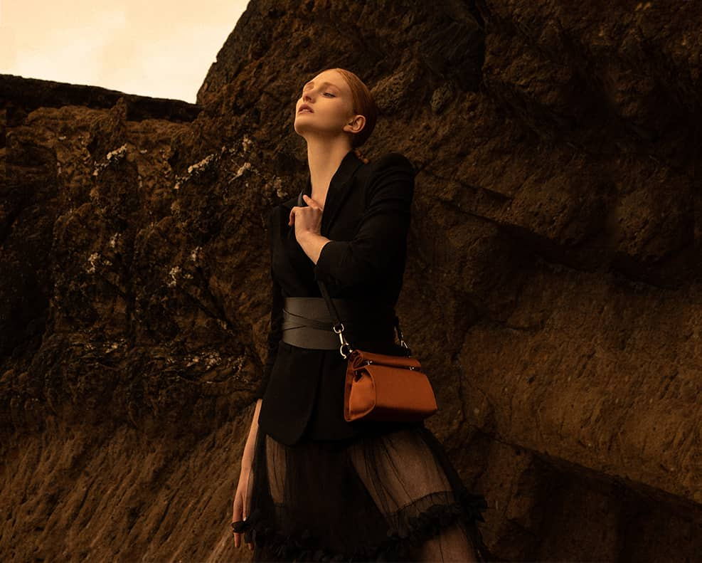 aoife ® Silk Collection   Made from Fishing Nets and Reclaimed Leathers