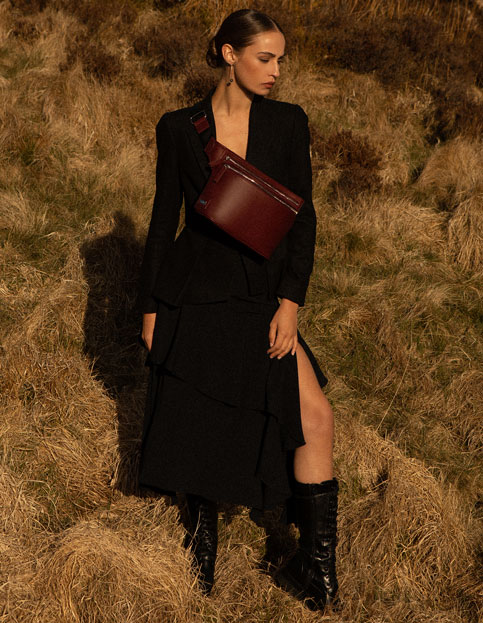 Gallery Reclaimed Sling Bag | Photoshoot aoife Luxury fashion brand